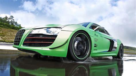 Audi R8 Green Hd Wallpapers