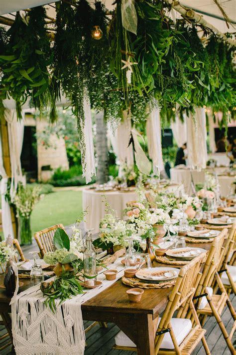 bohemian wedding decor wedding party ideas  layer