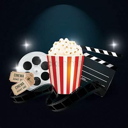 Cinema Background Popcorn Movies Objects Vector Trivia