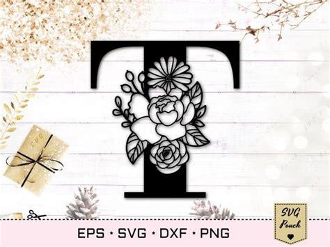 floral letter  svg flower  font svg floral letters svg monogram font svg floral alphabet