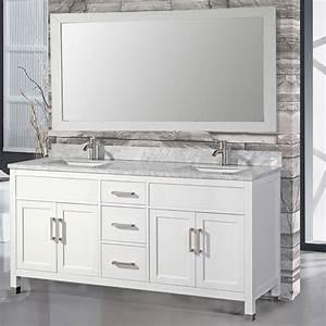 Mtdvanities Ricca 72 U0026quot  Double Sink Bathroom Vanity Set With