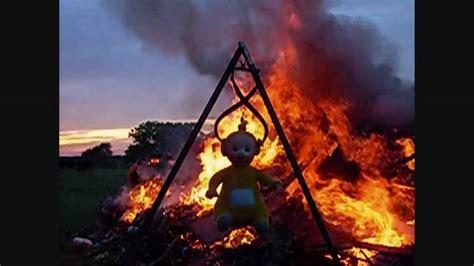 BURN In TELETUBBIE Fire - YouTube