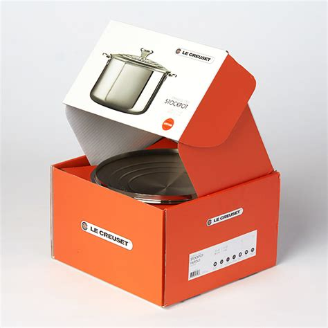 c kitchen box design le creuset stainless steel packaging viva co 5091