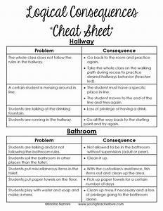 Logical Consequences Cheat Sheet FREEBIE - Young Teacher ...