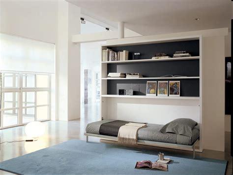 Furniture. Modern Twin Size Wood Horizontal Murphy Bed ...