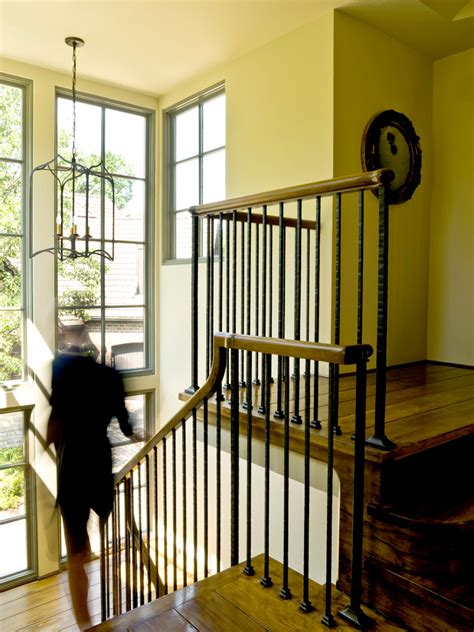 rod-iron-railing-Staircase-Traditional-with-floor-to