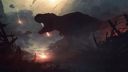 Digital Dinosaur Artwork Dinosaurs Apocalyptic Jurassic Background