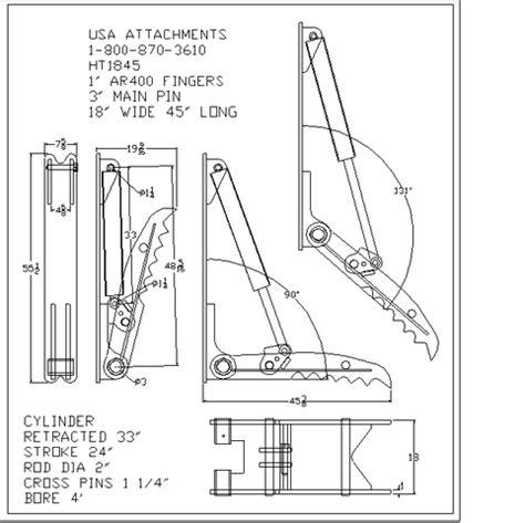photo  ht excavator thumb  usa attachments
