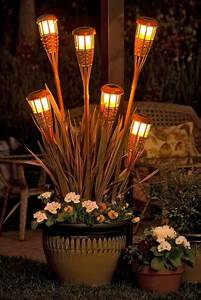 Tiki Torch planters Brighten up an outdoor space