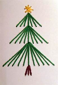 Weihnachtskarten Basteln Grundschule : gestickte weihnachtskarten ~ Orissabook.com Haus und Dekorationen