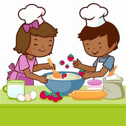 Cooking Kitchen Children Illustration Cartoon Boy Fun