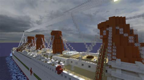 hmhs britannic sinking version 1 1scale minecraft project