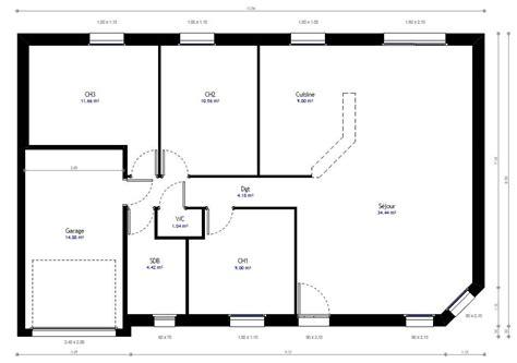 renover une cuisine rustique plan maison individuelle 3 chambres 75 habitat concept