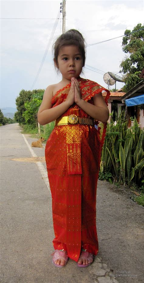 Thai Craft Warehouse - Full Traditional Thai Girls Outfit Costume ... | The King and I ...