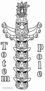 Coloring Pages Totem Pole Printable Sheet Poles Template Templates Apache Native American Alaska Cool2bkids Totems Painting Children Canadian sketch template