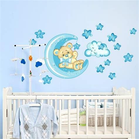 decoration chambre petit garcon stickers chambre bébé ourson pour un sommeil épanoui