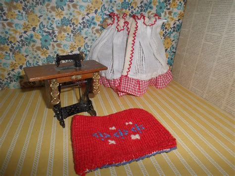 dollhouse sewing room antique style sewing machine