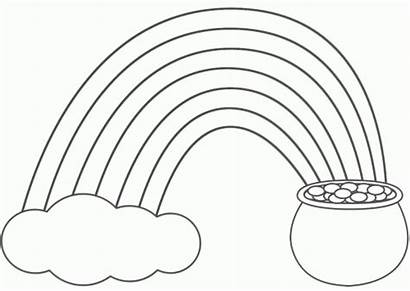 Rainbow Craft Coloring Pages Cloud St Gluesticks