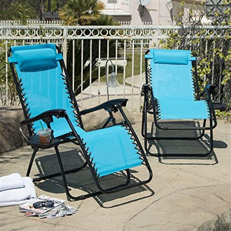 arksen sky blue zero gravity patio chairs 2 pack