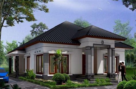 gambar desain rumah tampak  sudut samping  lantai