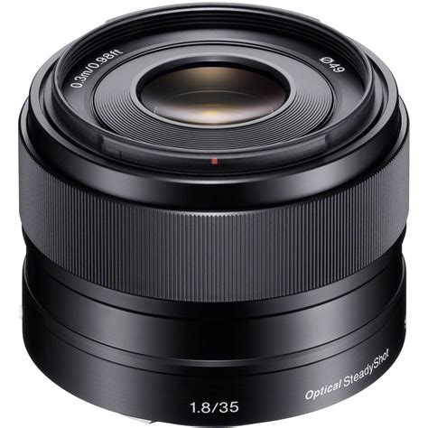 Sony E 35mm F 1 8 Oss Lens sony 35mm f 1 8 oss alpha e mount prime lens sel35f18 b h