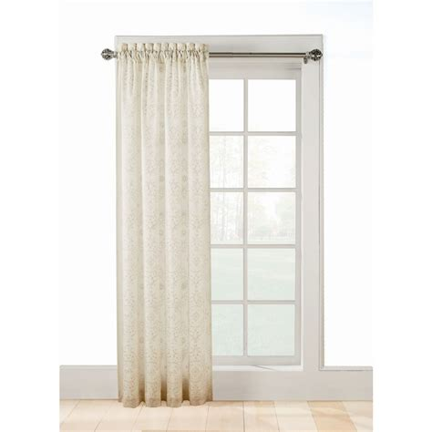 light filtering sheer curtains shop style selections 84 in ivory polyester rod
