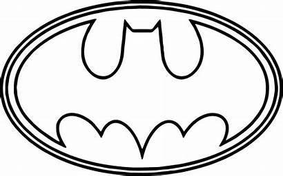 Batman Coloring Outline Pages Symbol Bat Drawing