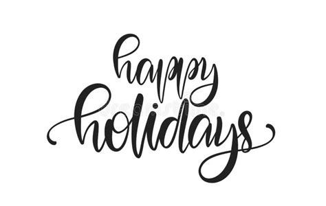 Happy Holidays Hand Lettering Greeting Card Handmade