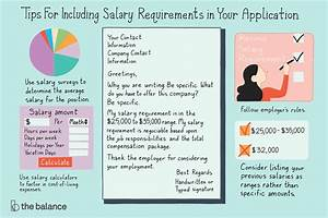 Compensation Requirements In Cover Letter When And How To Disclose Your Salary Requirements