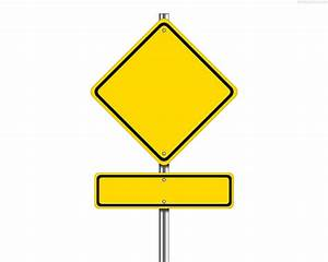 Blank yellow traffic sign | PhotosInBox