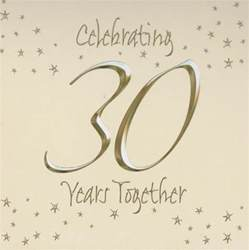30th wedding anniversary color 30th wedding anniversary wishes quotes poems gifts for parents