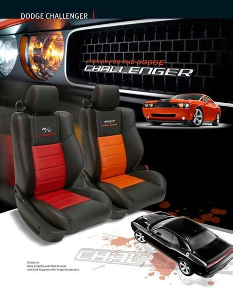 Auto Seat Upholstery Kits by Dodge Challenger Leather Seat Cover Leather Interior
