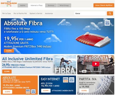 Test Velocità Infostrada by Offerte Adsl E Fibra Ottica Infostrada Offerte Adsl
