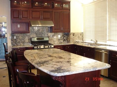 cherry cabinets with granite countertops and island yelp