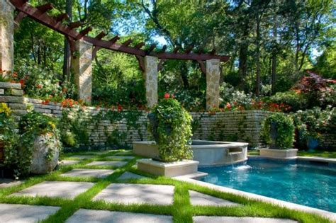 gardens around swimming pools vertical garden next to the swimming pool brings more green into your home interior design