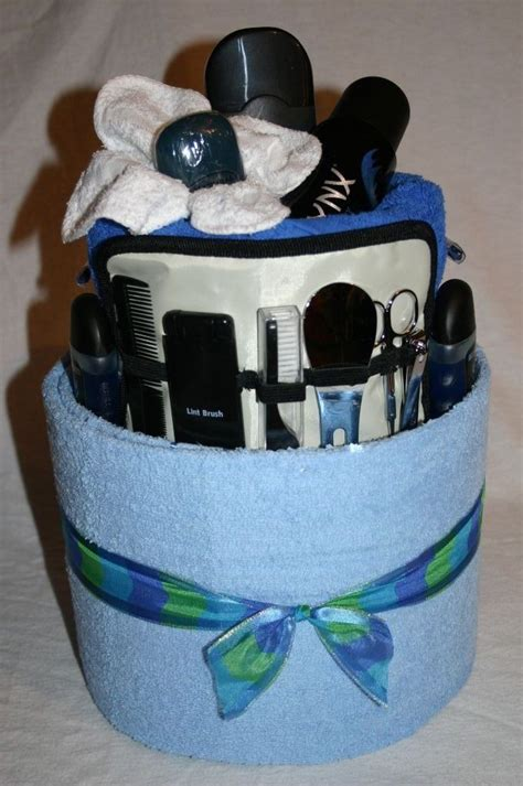 mens shavingtowel cake diy  crafts pinterest