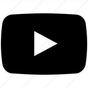 17 Black And White YouTube Icon Images - YouTube Logo ...