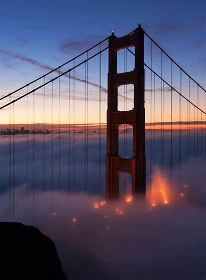 Bridge Gate Golden San Francisco Fog Bay