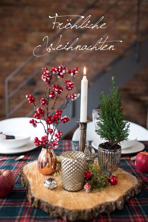 Weihnachts Tisch Deko by Fr 246 Hliche Weihnachten Leelah