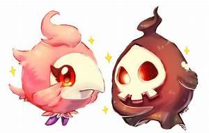 pokemon -- spritzee and duskull by onisuu on DeviantArt