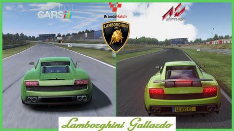 comparatif si鑒es auto assetto corsa vs project cars lamborghini gallardo mod at brands hatch