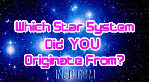 star system   originate  ind