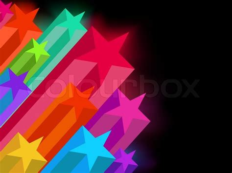 Glow In The Backgrounds Abstract Glowing On A Background Stock Vector