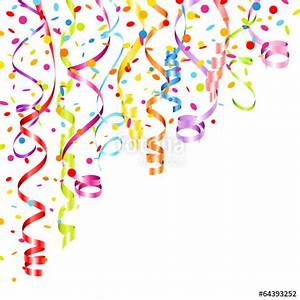 """Party Background Streamers & Confetti Color"" Stock image ..."