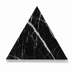 Black Spanish Marquina Marble TRIANGLE Board Trivet 30cm