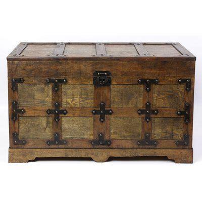 williston forge dorinda trunk   antique wood