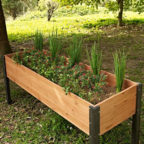 Raised Planters by Elevated Outdoor Raised Garden Bed Planter Box 70 X 24 X