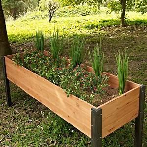 Elevated Outdoor Raised Garden Bed Planter Box