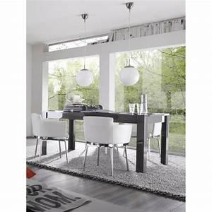 Table A Manger Grise : table de salle manger design laqu e grise twister matelpro ~ Melissatoandfro.com Idées de Décoration