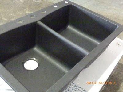pegasus  slate composite granite double bowl kitchen